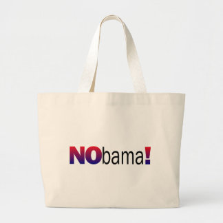 Nobama Anti-Obama Jumbo Stoffbeutel