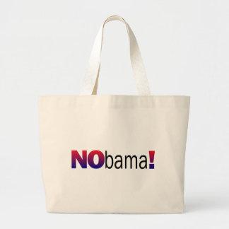 Nobama Anti-Obama Jumbo Stoffbeutel