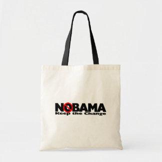 NoBama: Behalten Sie die Änderung Budget Stoffbeutel