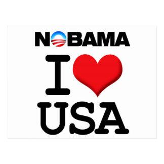 NOBAMA - I LIEBE DIE USA AMERIKA POSTKARTE