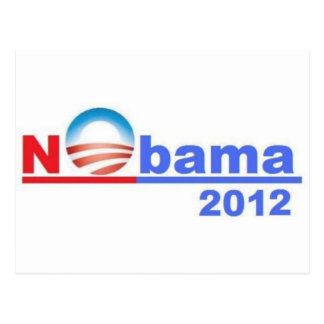 Nobama - kein Obama 2012 Postkarte