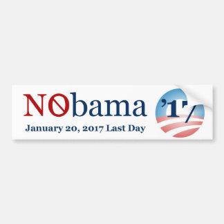 NObama letzter Tagesam 20. Januar 2017 Autoaufkleber