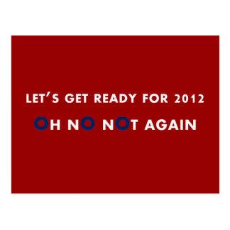 NoBama Präsidentschaftswahl 2012 Postkarte