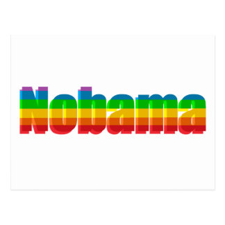 Nobama Regenbogen-politische Geschenke Postkarte