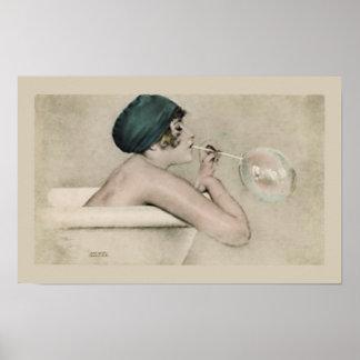 Noble Badezimmer-Wand-Kunst Plakat