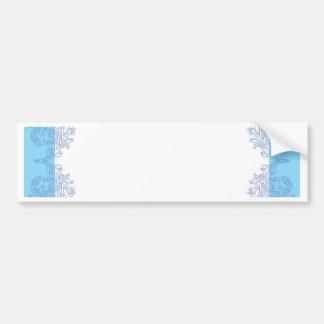 Noble blaue Einladungsschablone Autoaufkleber