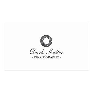 Noble dunkle Fensterladen-Fotografie-Visitenkarte