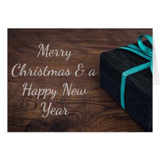 Noble eingewickelte Weihnachtsgeschenk-Gruß-Karte Grußkarte