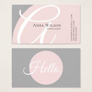 Noble elegante rosa und graue Visitenkarte