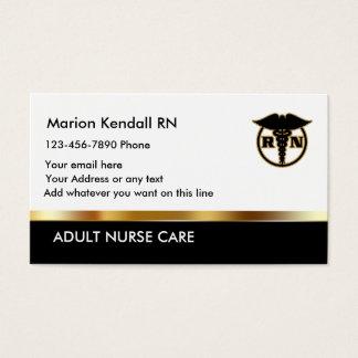 Noble erwachsene Krankenschwester-Sorgfalt Visitenkarte