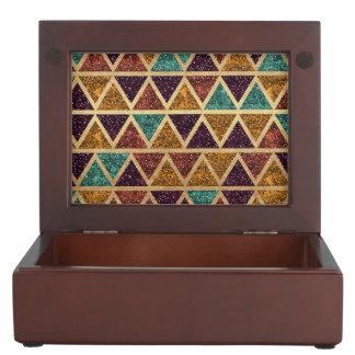 Noble Glitter-Dreieck-Goldfolie Erinnerungsdose