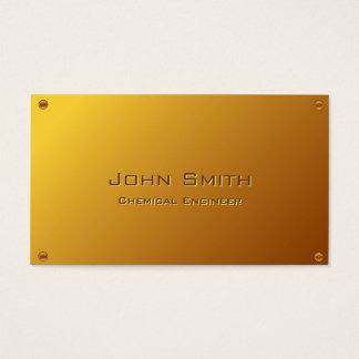 Noble GoldChemieingenieur-Visitenkarte Visitenkarte