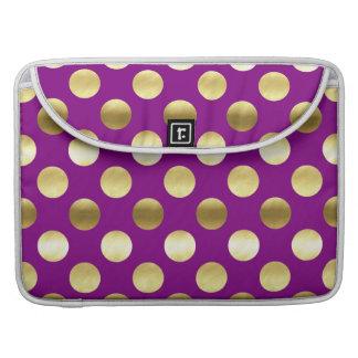 Noble Goldfolien-Polka-Punkte lila Sleeve Für MacBook Pro