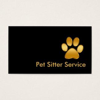 Noble Haustier-Modell-Visitenkarten Visitenkarten