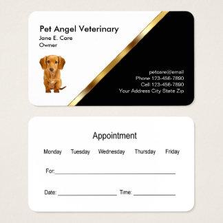 Noble Haustier-Visitenkarte-Verabredungs-Schablone Visitenkarte