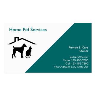 Noble Haustier-Visitenkarten