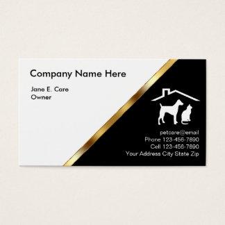 Noble Haustier-Visitenkarten Visitenkarten