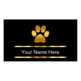 Noble Haustierpflege-Visitenkarten