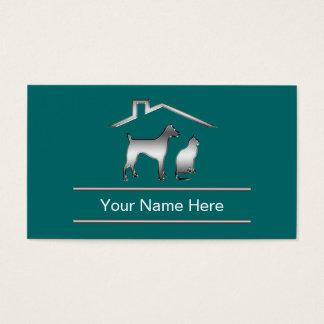 Noble Haustierpflege-Visitenkarten Visitenkarte