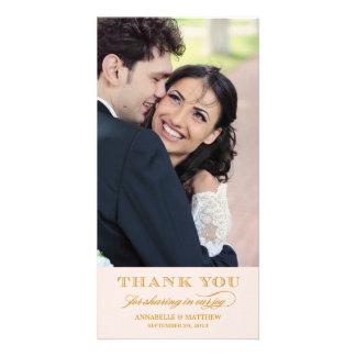 Noble Hochzeit danken Ihnen Foto-Karte Bild Karte