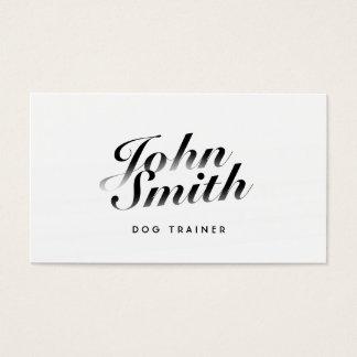 Noble kalligraphische Hundetrainings-Visitenkarte Visitenkarte