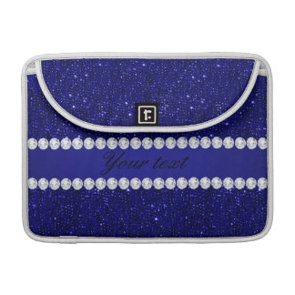 Noble Marine-Sequins und Diamanten personalisiert MacBook Pro Sleeve