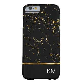 Noble Monogramm-Marmor-Art Barely There iPhone 6 Hülle