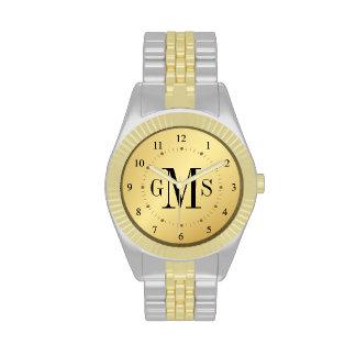 Noble personalisierte das Monogramm-Uhr der Männer