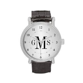 Noble personalisierte das Monogramm-Uhr der Männer Uhr