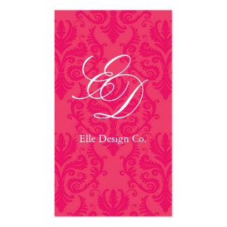 Noble Pink-Damast-Visitenkarte