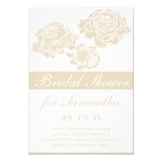 Noble Rosen-Schablone-Frühlings-Hochzeits-Karte 12,7 X 17,8 Cm Einladungskarte