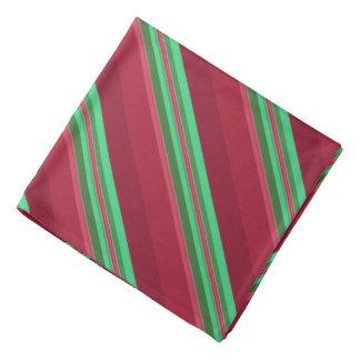 Noble rote und grüne Streifen Kopftuch