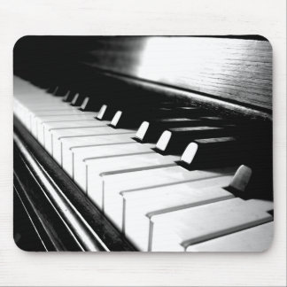 Noble schwarze u. weiße Klavier-Fotografie Mousepad