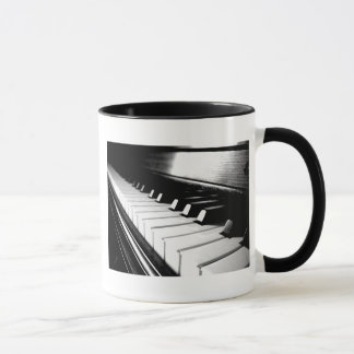 Noble schwarze u. weiße Klavier-Fotografie Tasse