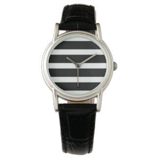 Noble Streifen-Uhr Uhr