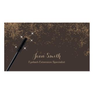Noble TAN-Goldconfetti-Wimper-Erweiterungen Visitenkarten