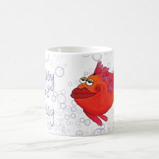 Noble und freche wunderliche Fisch-Grafik Kaffeetasse
