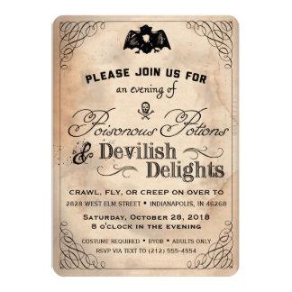 Noble Vintage Devilish Freuden Halloweens laden Karte