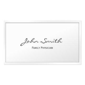 Noble weiße GrenzHausarzt-Visitenkarte Visitenkarten