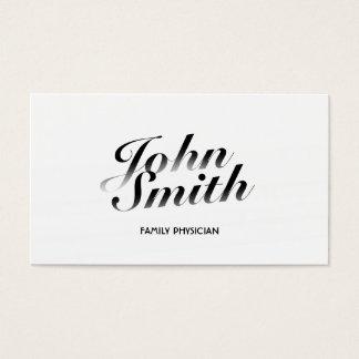 Noble weiße Hausarzt-Visitenkarte Visitenkarte