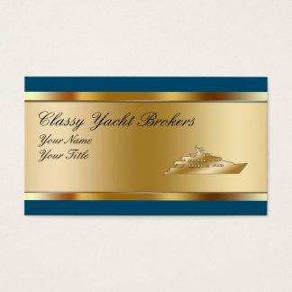 Noble Yacht-Vermittler-Visitenkarten Visitenkarte