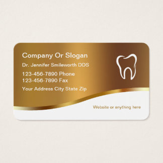 Noble Zahnarzt-Visitenkarten Visitenkarte
