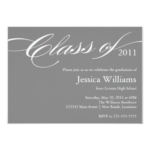 Nobler Abschluss 12,7 X 17,8 Cm Einladungskarte