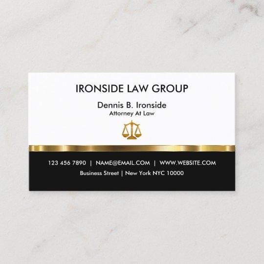 Nobler Beruflicher Rechtsanwalt Visitenkarte Zazzle De