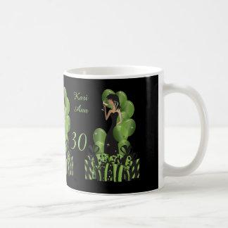 Nobler Diva-Geburtstag oder Grün Bachelorette Kaffeetasse