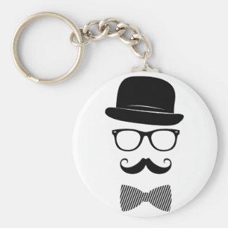 Nobler Hipster Standard Runder Schlüsselanhänger