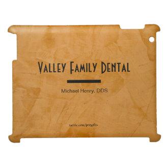 Nobler rustikaler orange zahnmedizinische iPad hülle