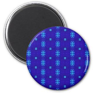 Nobler schicker moderner Königsblau-Entwurf Runder Magnet 5,1 Cm