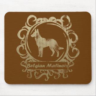 Nobler verwitterter Belgier Malinois Mousepads