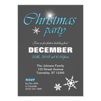 Nobler Winter-blaue WeihnachtsParty Einladungen